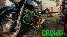 Crowd Treffen 2019 Wheelie Trainer Moped Tuning Db
