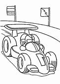 Formula One Racing Car Was Drove Coloring Page  Race