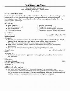 free professional resume templates livecareer