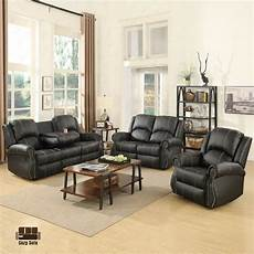gold thread sofa loveseat recliner living room furniture black ebay