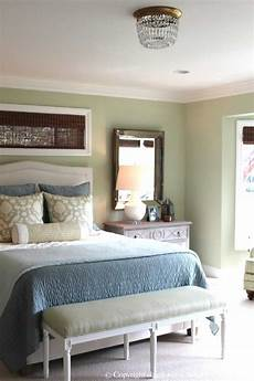 soft green and aqua blue master bedroom before and after classic casual home