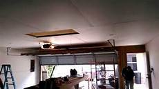 garage sheetrock installation youtube