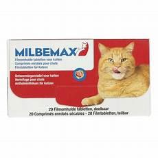 katzen wurmkur kaufen milbemax wurmtabletten f 252 r katzen 2 12kg 20 tab agradi de