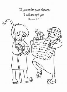 cain and abel bible coloring page free download big part of the creation bible lesson cain