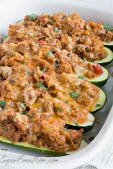Low Carb Zucchini - low carb taco stuffed zucchini boats get healthy u
