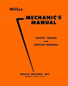 1948 jeep wiring diagram 1948 1956 willys jeep station wagon shop manual overland truck repair ebay