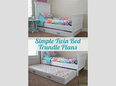 Simple Twin Bed Trundle   Twin trundle bed, Girls trundle
