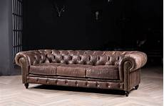 chesterfield sofa with vintage italian leather for antique