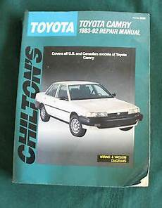 chilton car manuals free download 1992 toyota camry head up display toyota camry 1983 92 repair manual 1992 chilton s part no 8265 ebay