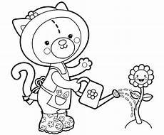 Malvorlage Katze Bunt Kostenlose Malvorlage Blumen Katze Beim Blumengie 223 En Zum