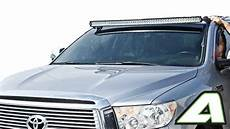 how to install led light bar on roof toyota tundra led light bar roof mount for 52 quot curved 2007 2013 apoc industries