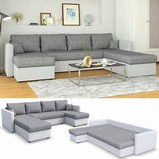 Sofa Grau Weiß - ecksofa mit schlaffunktion wei 223 grau wohnlandschaft