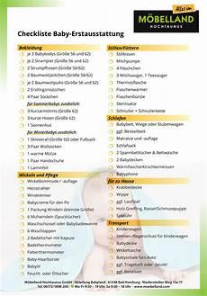 Checkliste Baby Erstausstattung 2017 M 214 Belland