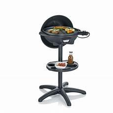 gril barbecue 233 lectrique sur pied avec couvercle pg8541
