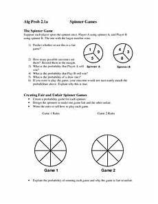 probability worksheets spinners 5883 fair and unfair spinners lesson plans worksheets