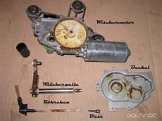 scheibenwischermotor golf 4 diy heckwischer reparieren defekt d 252 se dreht mit golf