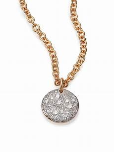 pomellato sabbia pomellato sabbia 18k gold pendant in pink
