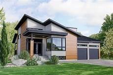 Modern Garage House Plans modern 3 bed house plan with 2 car garage 80913pm