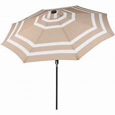serenity health sunnydaze 9 foot outdoor patio umbrella with solar lights tilt crank led