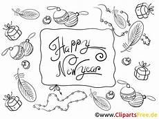 cliparts zum ausmalen zum neujahr