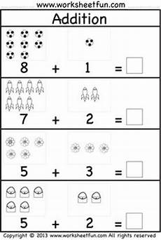 subtraction and addition worksheets for kindergarten 9991 practice adding single digit numbers and writing the sums on this ocea kindergarten math