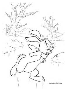 winnie the pooh rabbit coloring page