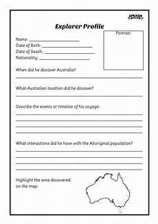 free first fleet explorer profile worksheet splash resources teaching worksheets and
