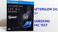 afterglow lvl 5 wired headset ps4 unboxing mic test