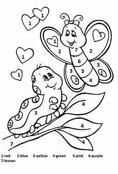 color by number spring worksheet 2 crafts and worksheets for preschool toddler and