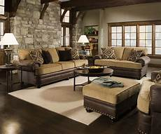 traditional beige brown living room sofa set w rolled