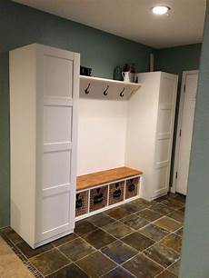 ikea mudroom hack pax closets ekby shelf and corbels