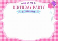 free printable birthday invitation cards templates now free printable birthday invitations