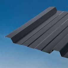 tole nervurée pour toiture plaque nervur 233 acier galvanis 233 gris ral 7016 ondometal l 1