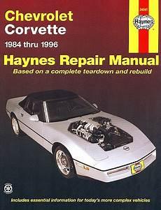 chilton car manuals free download 1984 chevrolet corvette transmission control chevy corvette repair manual 1984 1996 haynes 24041