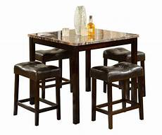 Dining Table With Stools 5 pcs counter height dining table set stool breakfast