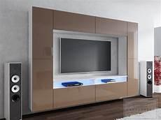 Wohnwand Modern Design - wohnwand design modern led beleuchtung hochglanz concept