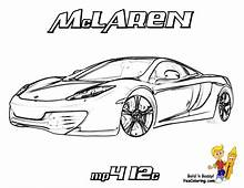 Mclaren P1 Coloring Pages Printable  For Kids 2019