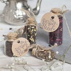 Wedding Favour Tea In Glass Bottle With Cork By Spice