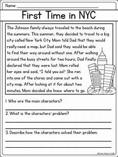 problem solution worksheet for third graders search third grade rdg problem character response rl2 3 reading comprehension