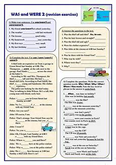 was and were 2 revision exercises worksheet free esl printable worksheets made by teachers