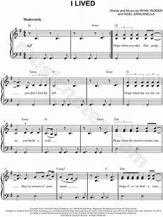 onerepublic quot i lived quot sheet music easy piano in g major download print sku mn0154382
