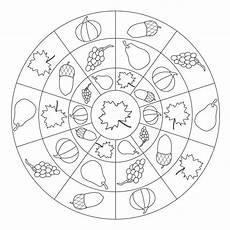 ausmalbilder herbst mandalas fall fruits leaves nuts mandala for pre k kindergarten