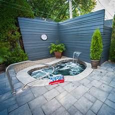 deco spa exterieur coin spa intime cour inspirations jardinage et