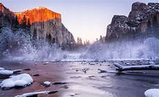 interesting photo of the day magical winter in yosemite