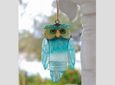 Recycled Bottle Owl   beautiful coloring, hangs outside