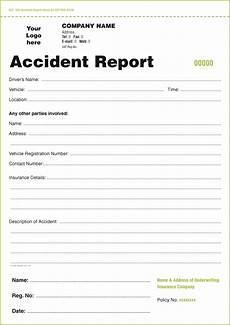 templates for accident report book and vehicle condition report books in ireland