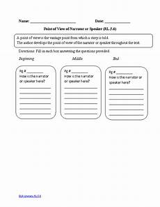 grammar worksheets consistent point of view 24725 5th grade common reading literature worksheets