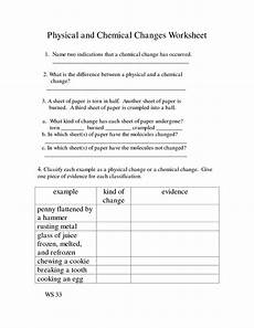 14 best images of elementary chemical change worksheets