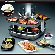 gastroback design raclette fondue set culinaris
