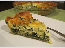 light and fluffy spinach quiche_image